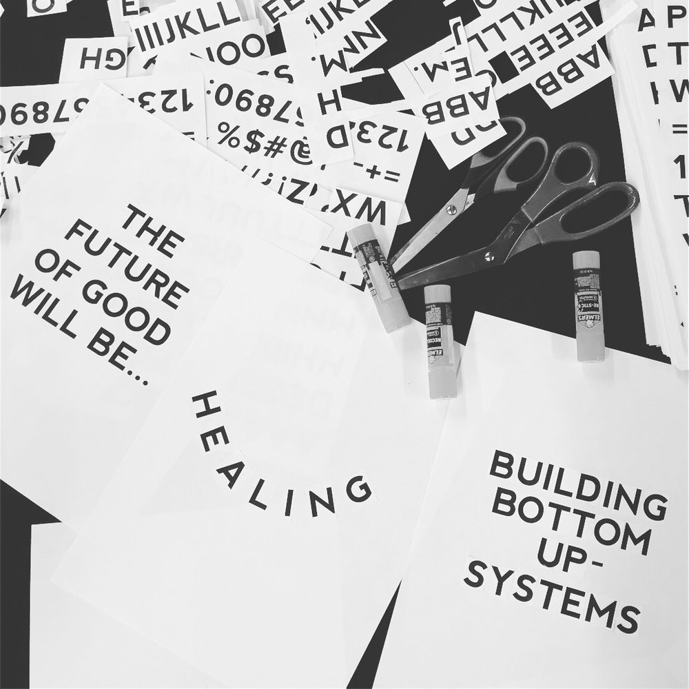 Creative Manifesto - After reviewing various types of artist manifestos from different time periods, participants will design their own individual creative manifesto or principles for everyday life in zine format using text, images and colour.