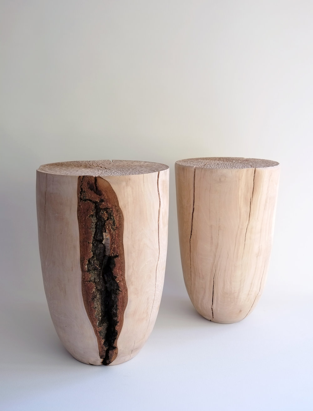 Split Birch Stools 2016 / silver birch