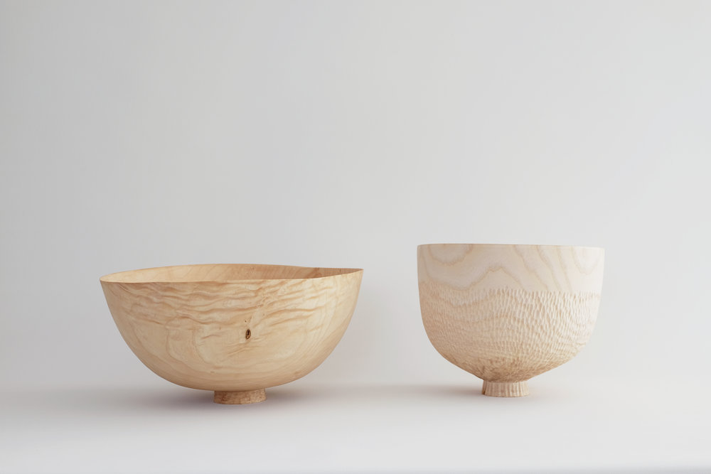 Offering Bowl,Scorped Ash 2016 / storm felled ash