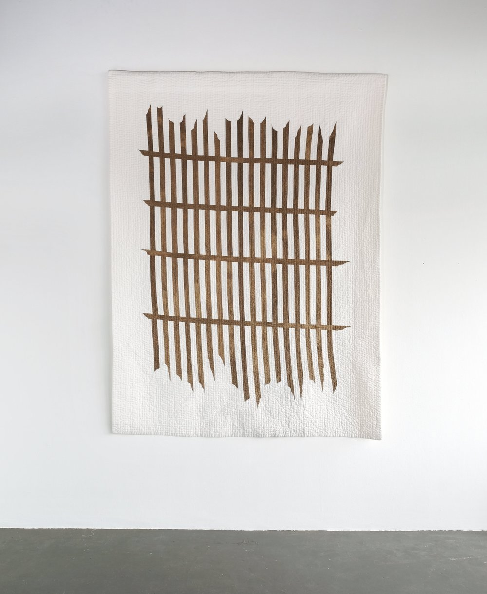 Stranded  | ground iron clay and wood tannin on cotton | 157cm x 210cm | 2017