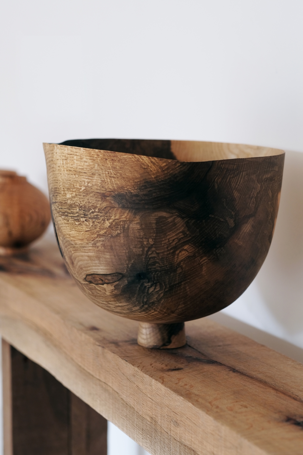 Offering Bowl  | olive ash wood | 2018   Installation View, Realising Landscape, The Space, Caro, Bruton