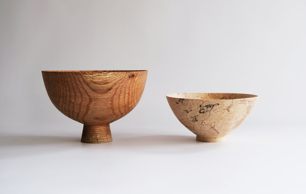 Red Oak and Holly Crucibles  | red oak, spalted holly, 2017