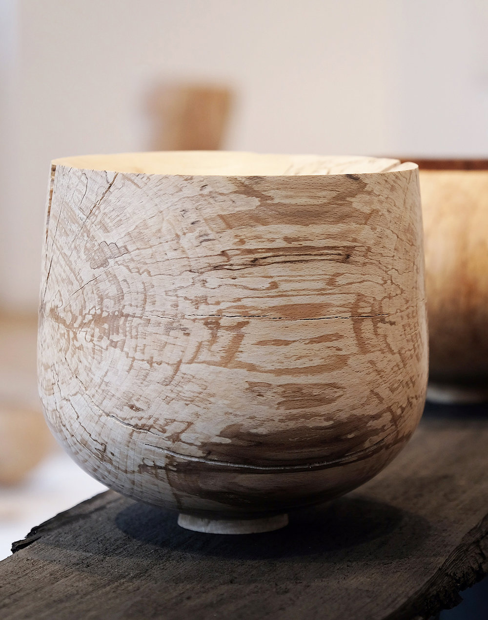 Split Spalted Beech  | spalted beech wood, 2017  Installation View: Unearthed, London Craft Week, London