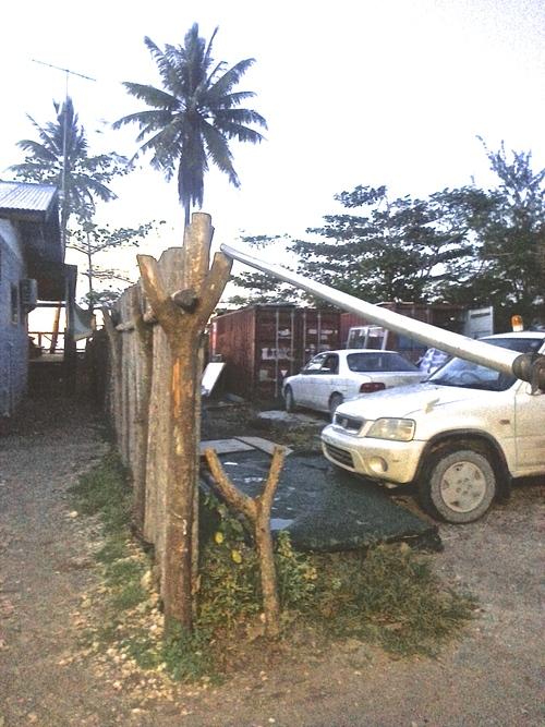 Handmade boom gate