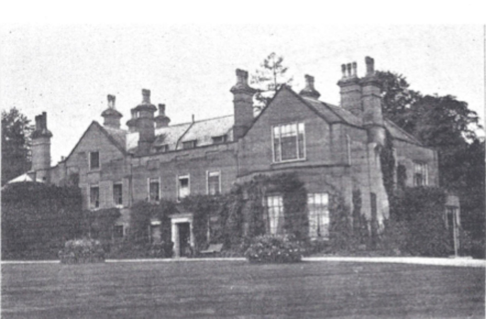 Figure 9. Early Photograph (pre 1863) of the Pococke family home in Newtown, near Newbury, Berkshire/Hampshire, private collection