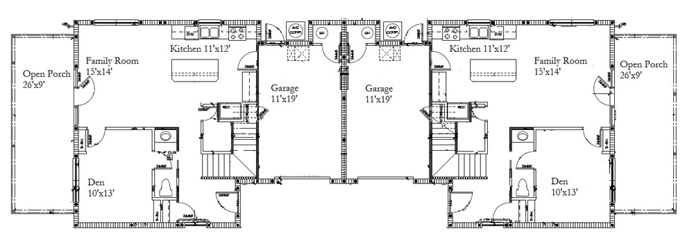 First Level Floor Plan (both sides)