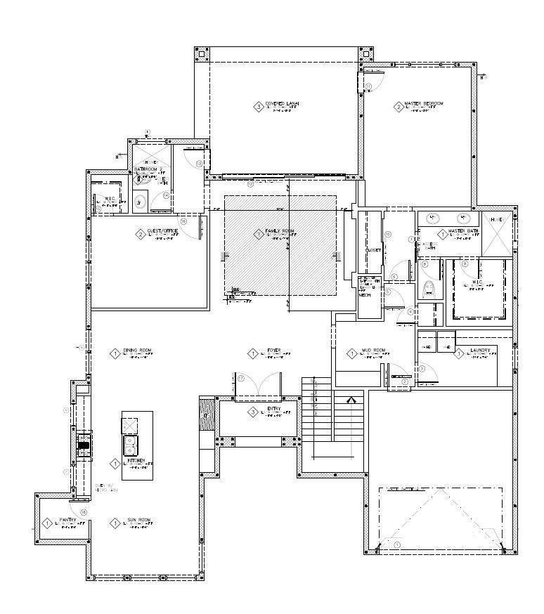 1116 E Gore St - 1st Floor Layout
