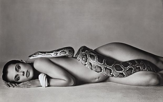 """Nastassja Kinski and the Serpent"" (1981) (c) Richard Avedon"