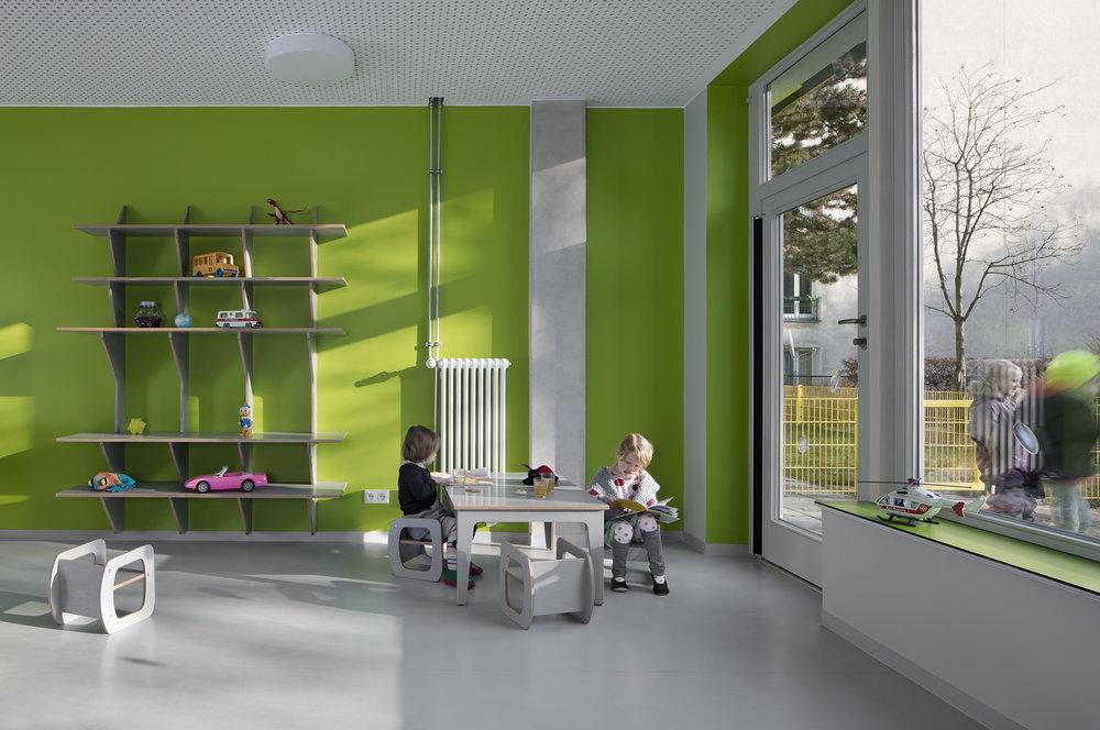 Farbwelt Kindergarten Stettiner Str Thinkbuild Architecture