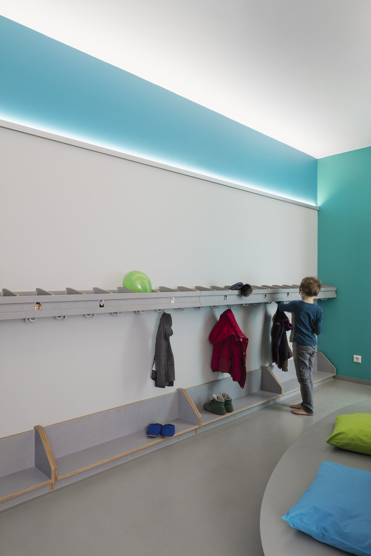 Garderobe in blau