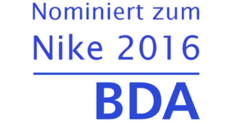 Nominiert zum Nike 2016 - BDA
