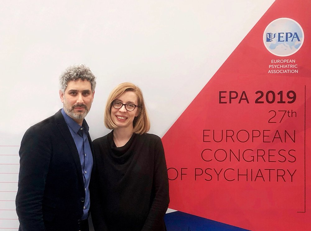 Jason Danziger and Dr. Nikolina Jovanovic at the EPA 2019 Congress in Warsaw, Poland