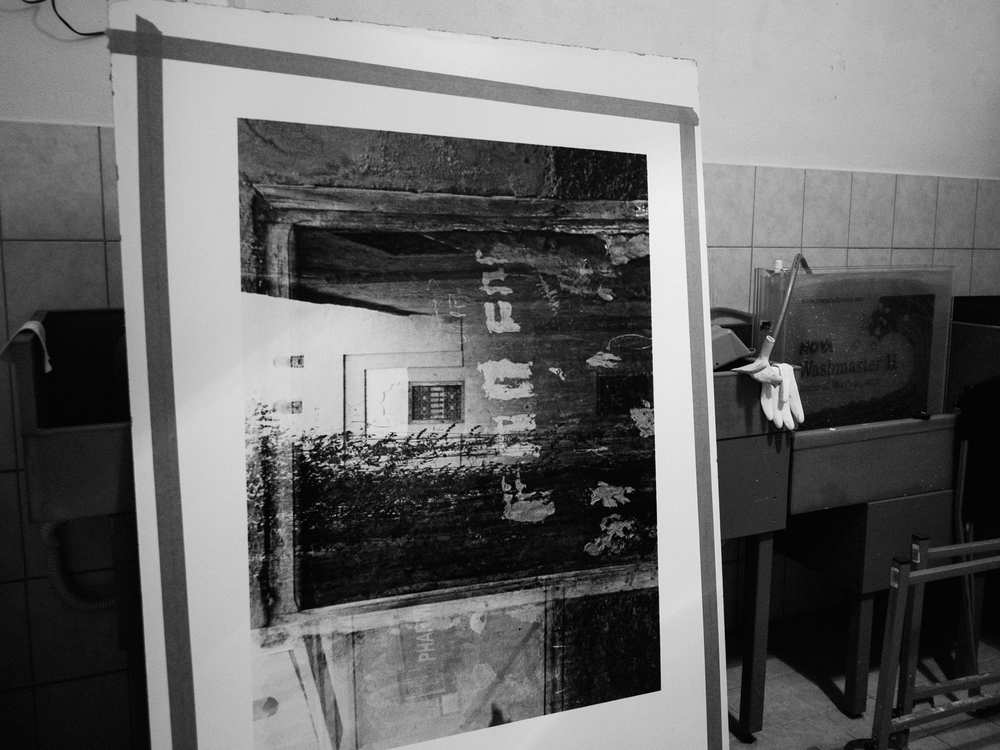 darkroom, drying of print