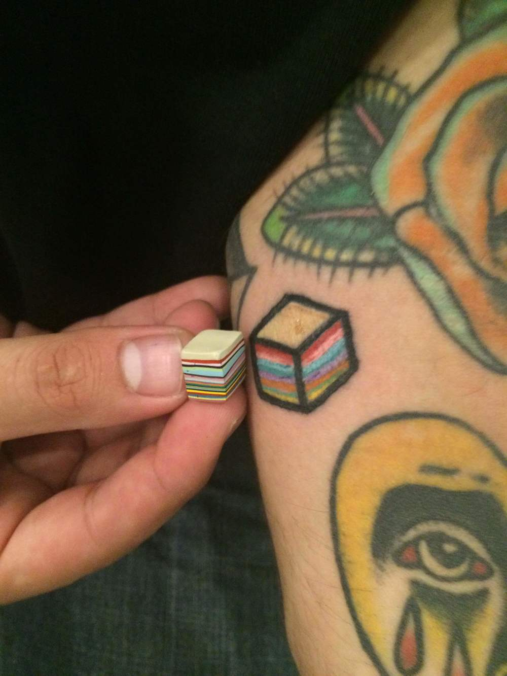 """Look to the cube, for it is singular and still yet it's colors are as vibrant as the life that pulsates around it."" Raff"