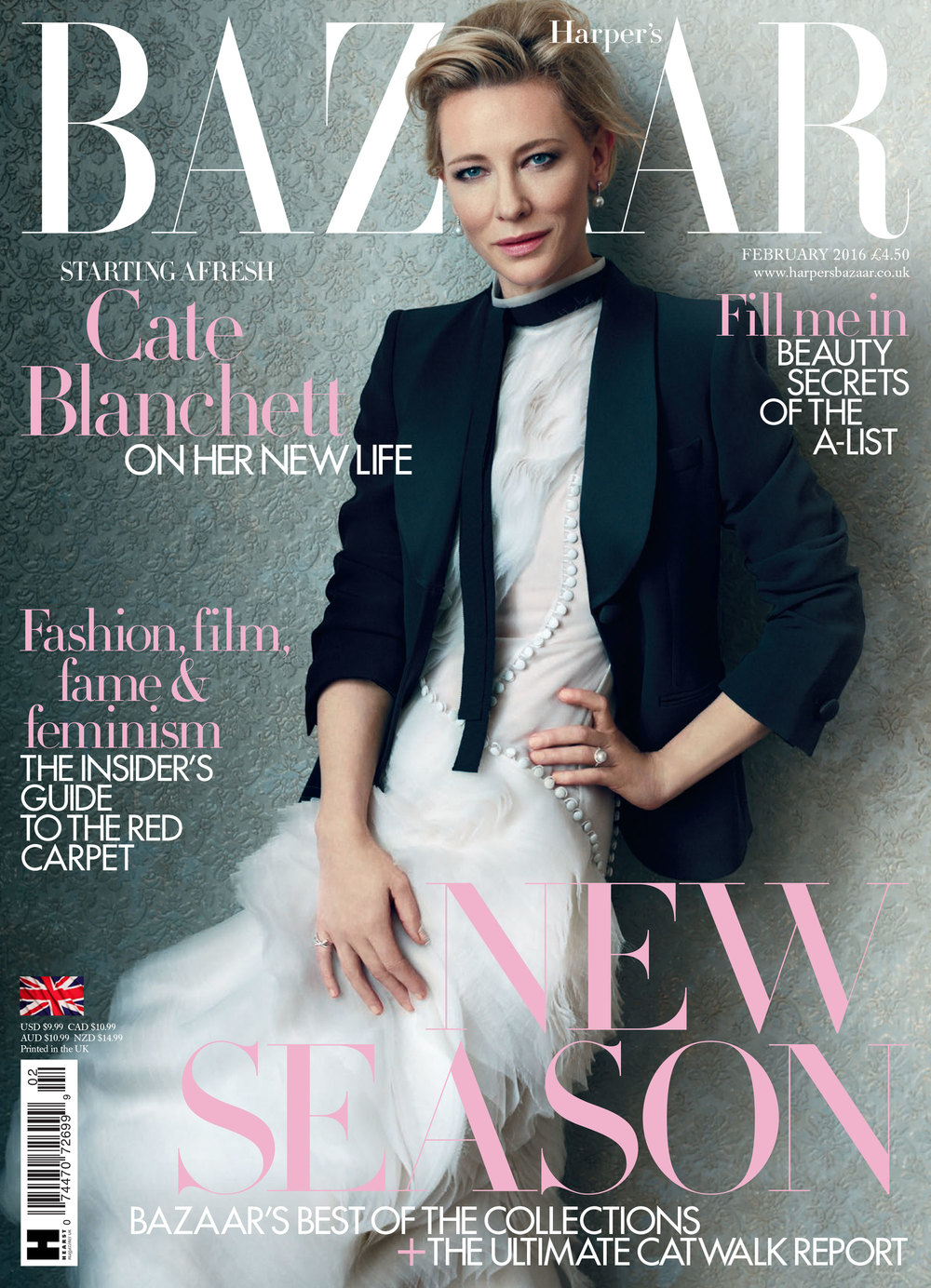 Cate Blanchett Cover Story for Harper's Bazaar, styled by Charlie Harrington