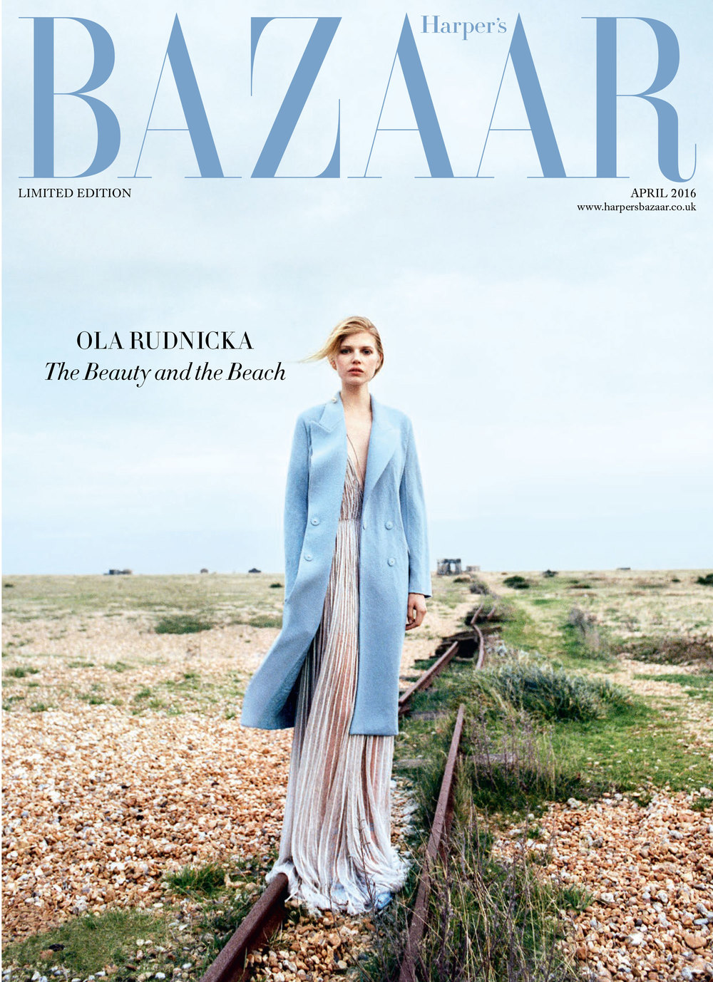 Ola Rudnicka Cover for Harper's Bazaar, styled by Charlie Harrington.