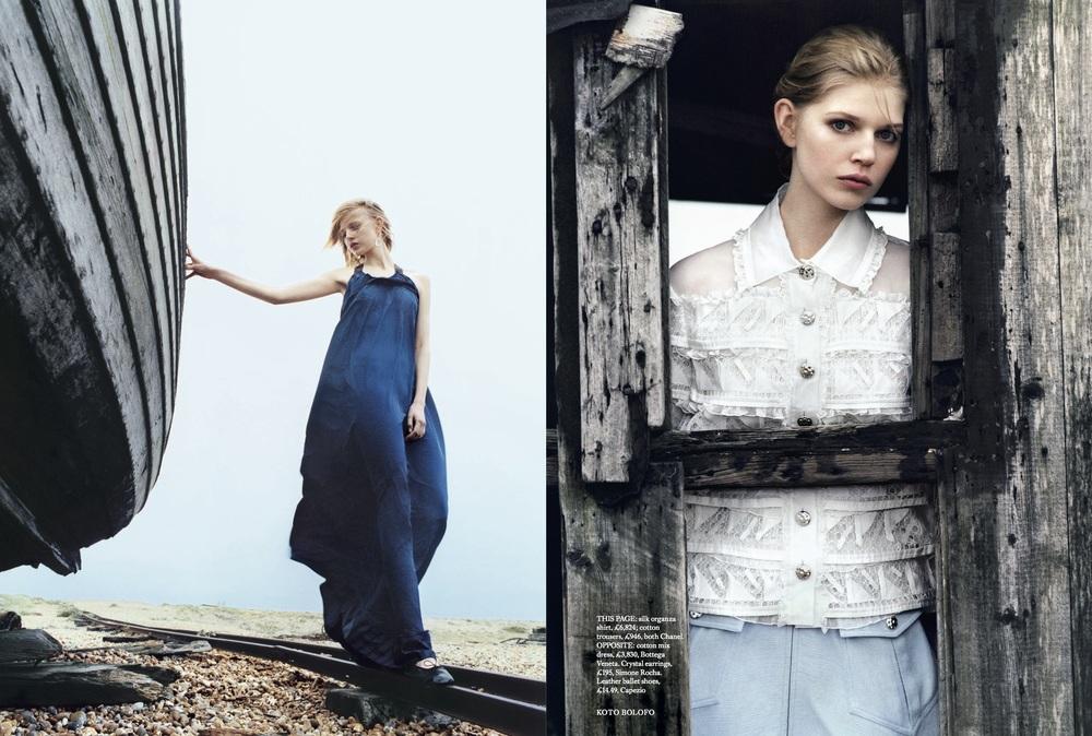 Ola Rudnicka Cover Story for Harper's Bazaar, styled by Charlie Harrington. Spread 2.