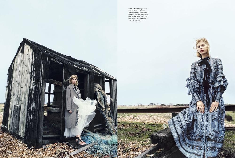 Ola Rudnicka Cover Story for Harper's Bazaar, styled by Charlie Harrington. Spread 3.