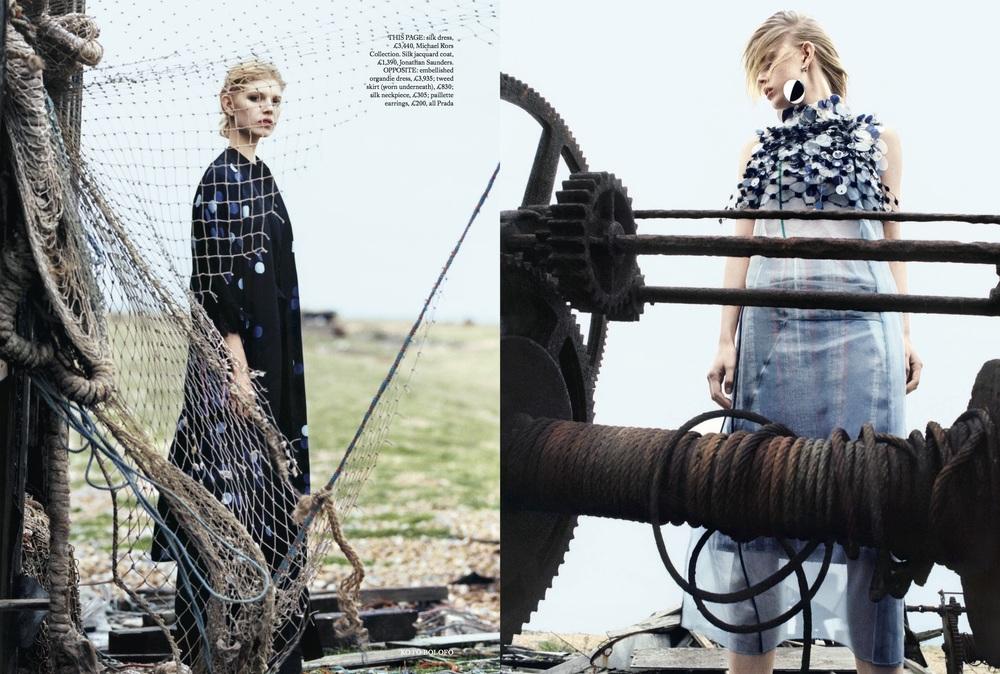 Ola Rudnicka Cover Story for Harper's Bazaar, styled by Charlie Harrington. Spread 4.
