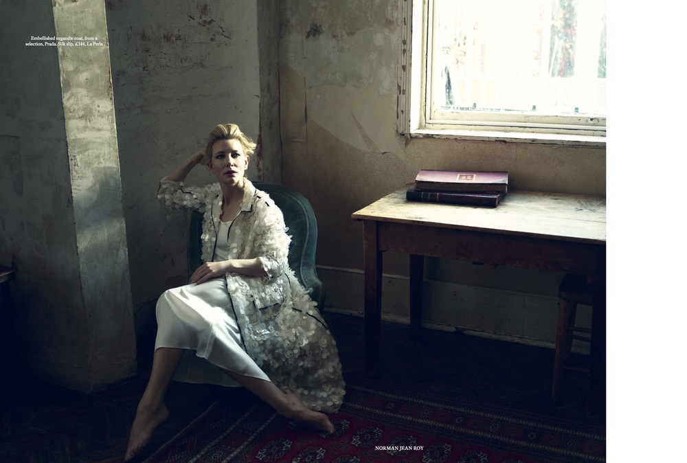Cate Blanchett Cover Story for Harper's Bazaar, styled by Charlie Harrington. Spread 5.