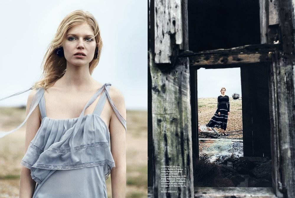 Ola Rudnicka Cover Story for Harper's Bazaar, styled by Charlie Harrington. Spread 5.