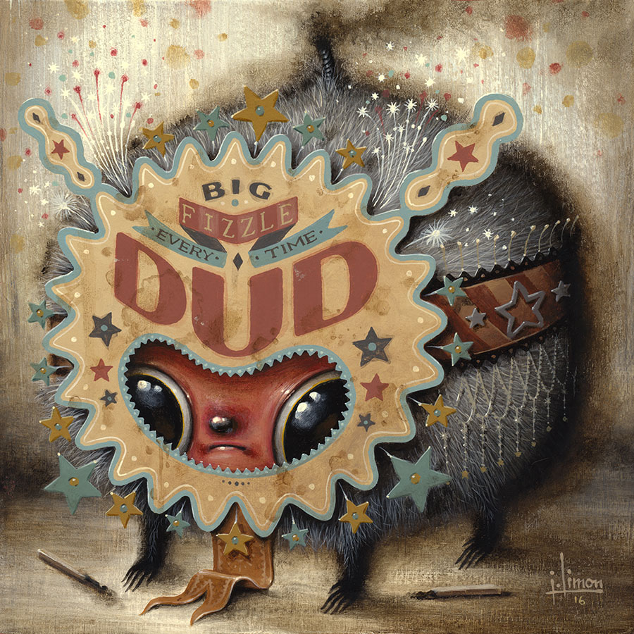 """Three Letter Words: Dud"", 8""x8"""