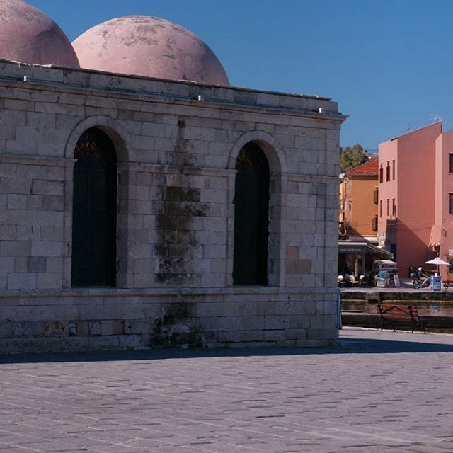 One of the most attractive features in the old town of Chania - The Kucjk Hassan Mosque. Now an eclectic bazar of handcrafted products from the region.