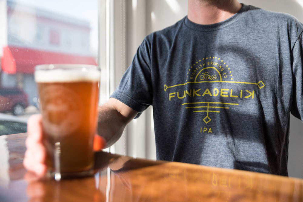 RELAX, DRINK A BEER - Birdfish shirts and merchandise always rotating with small run designs you will only find in the tasting room