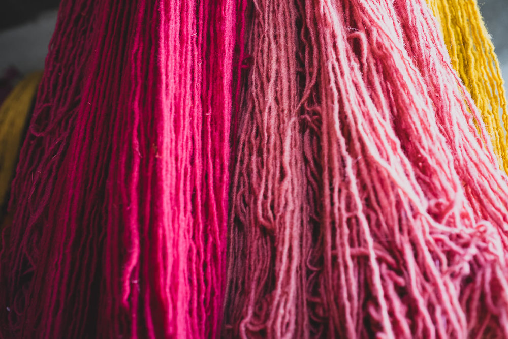 Beautiful colour ranges of our wool