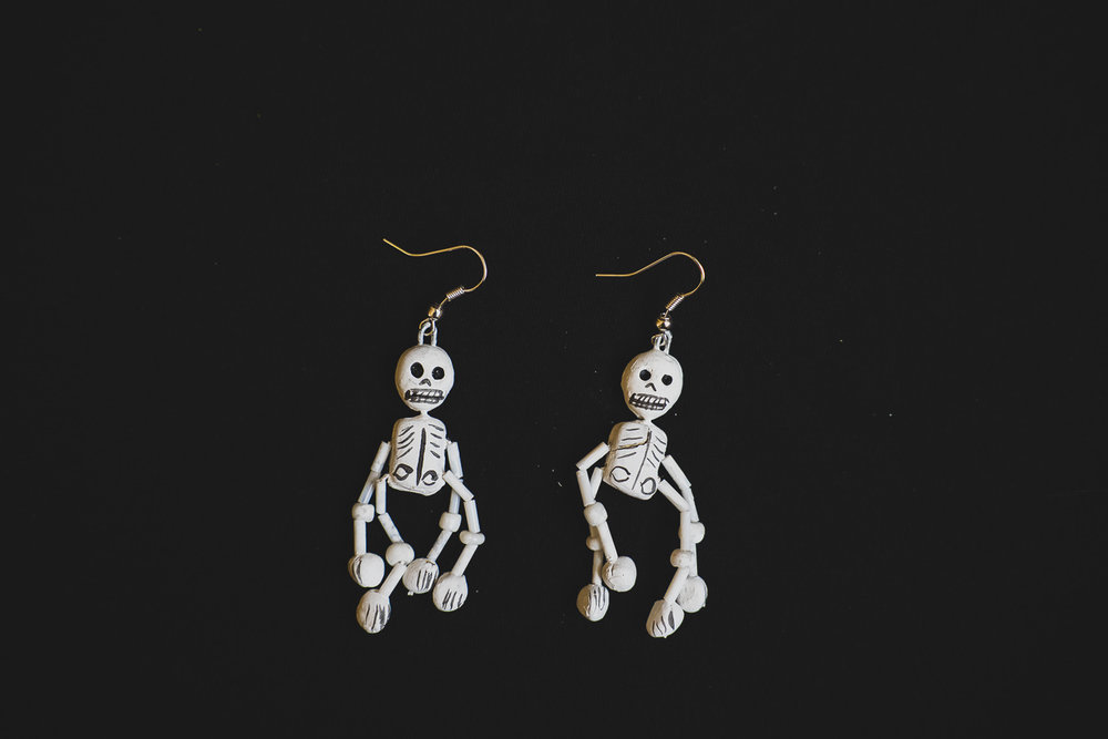 MEXICAN SKELETON EARRINGS   STATUS: AVAILABLE TO ORDER