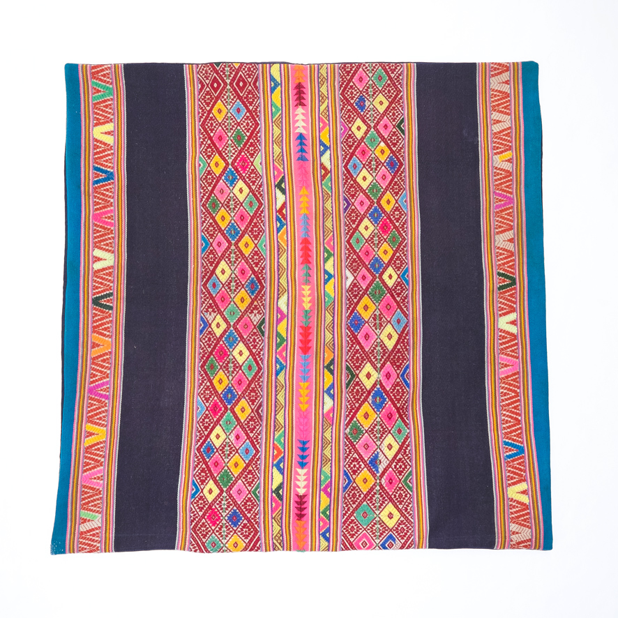 PERUVIAN FLOOR CUSHION (PINK/NAVY)   STATUS: SOLD OUT