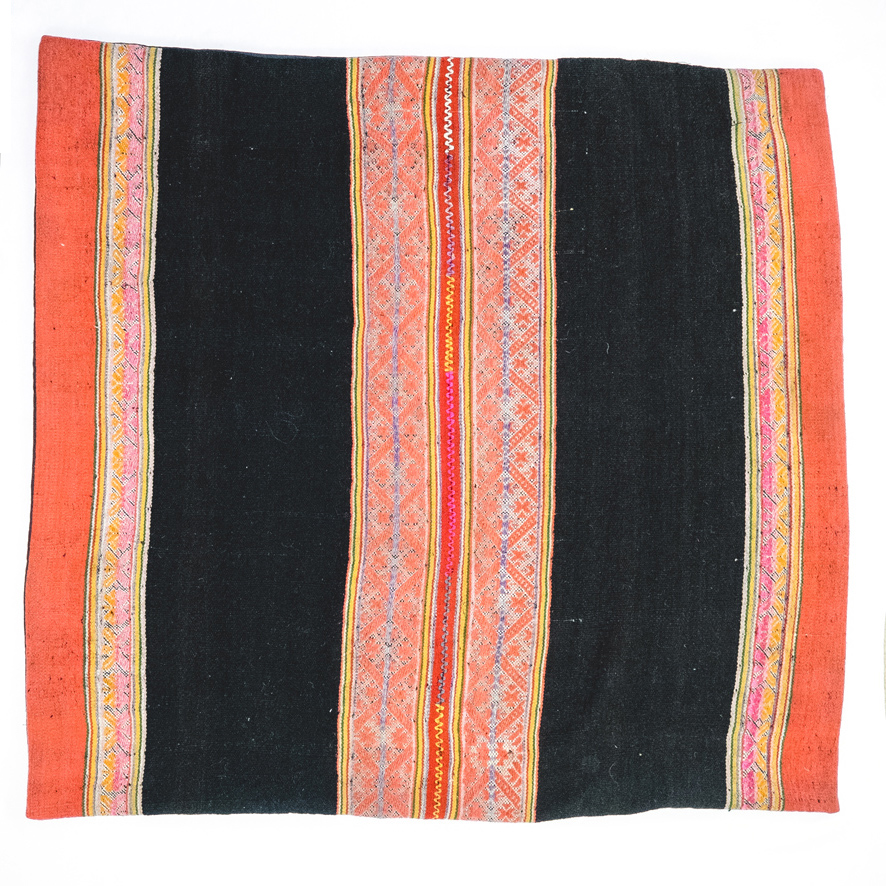 PERUVIAN FLOOR CUSHION (CORAL)   STATUS: SOLD OUT