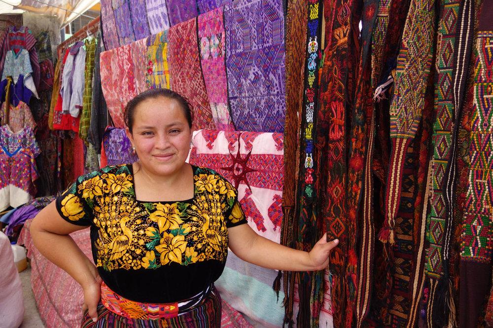 Lydia: Second Hand Textile Merchant - Panajachel, Guatemala