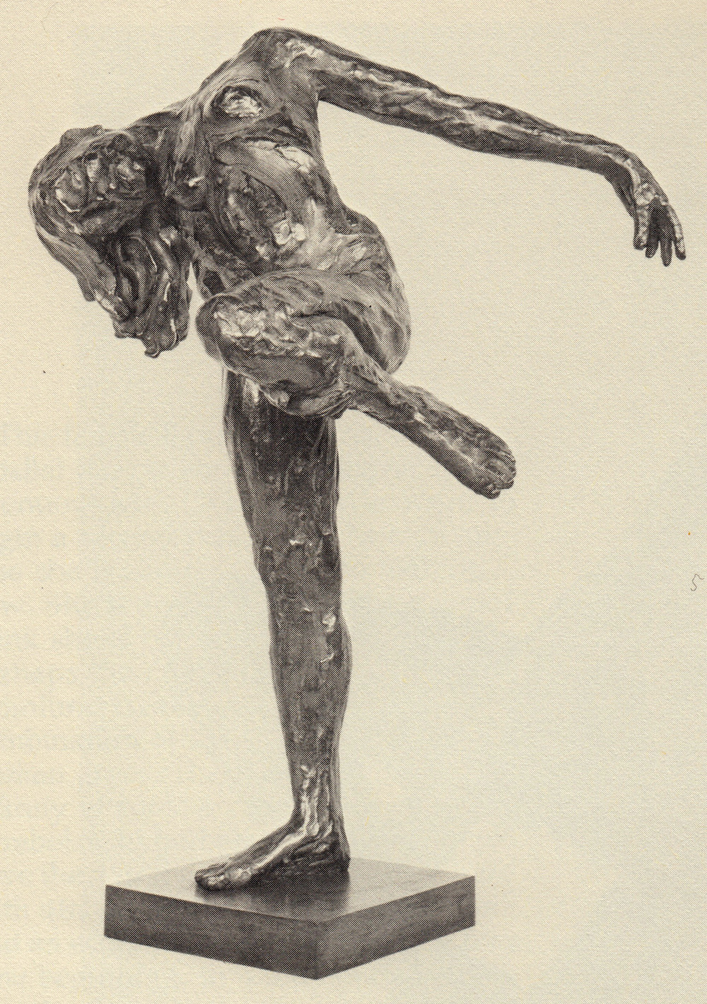 "figure holding leg 1971 - 27"""