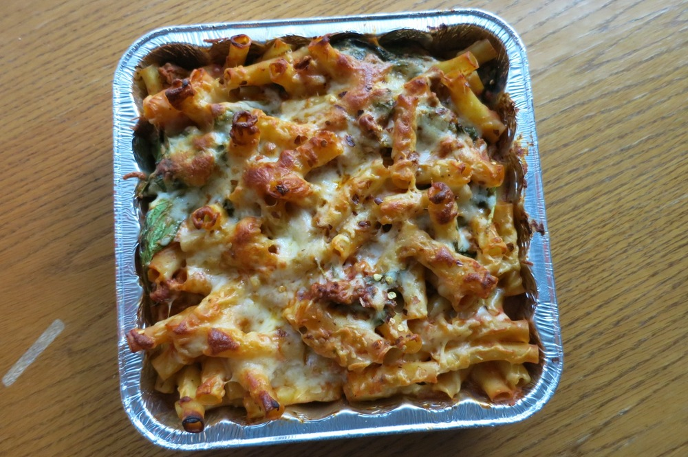 Baked Ziti with Turkey and Spinach