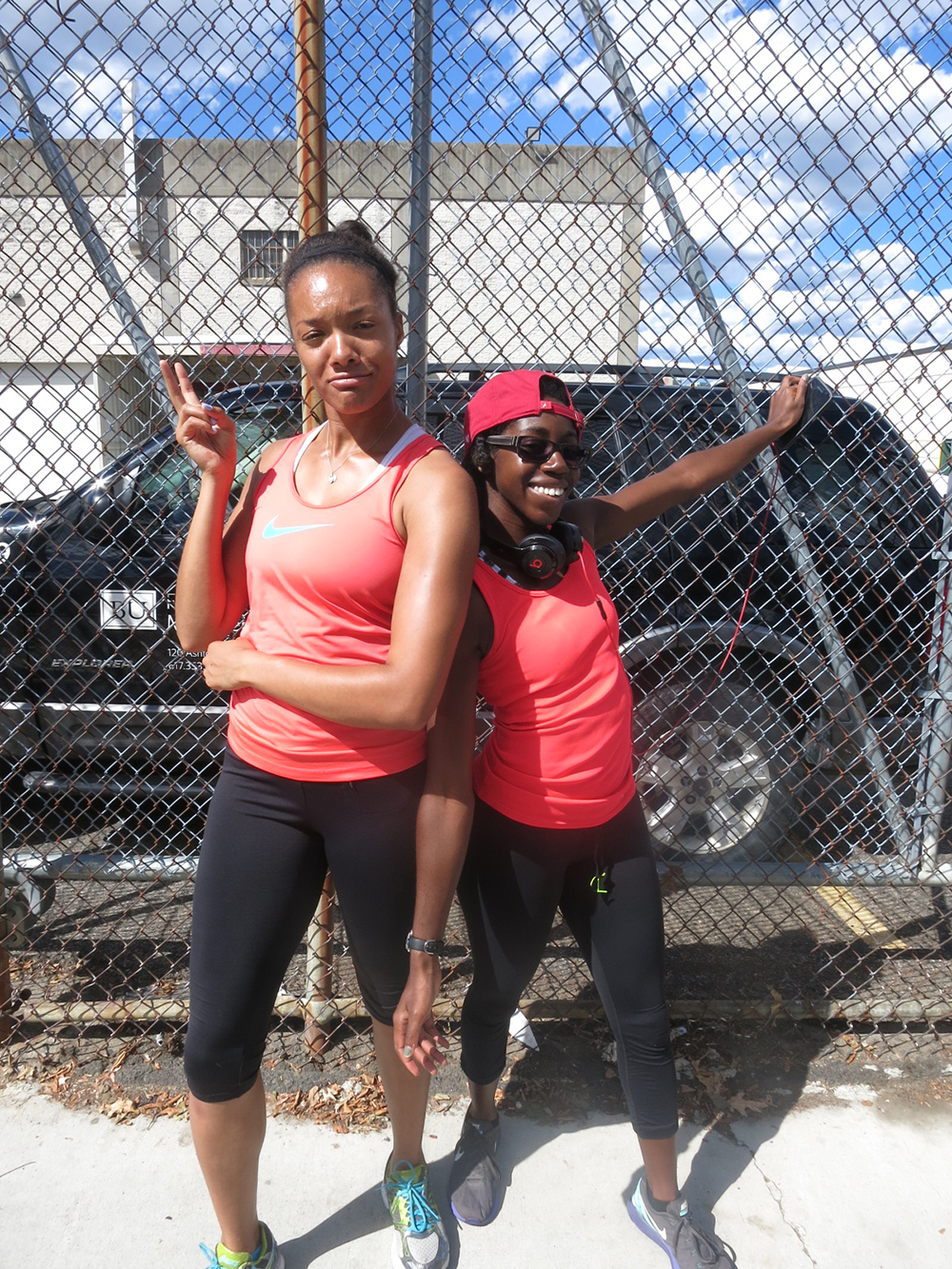 I noticed my teammate/friend, Catherine, and I were matching, so of course we had to take a picture as proof lol