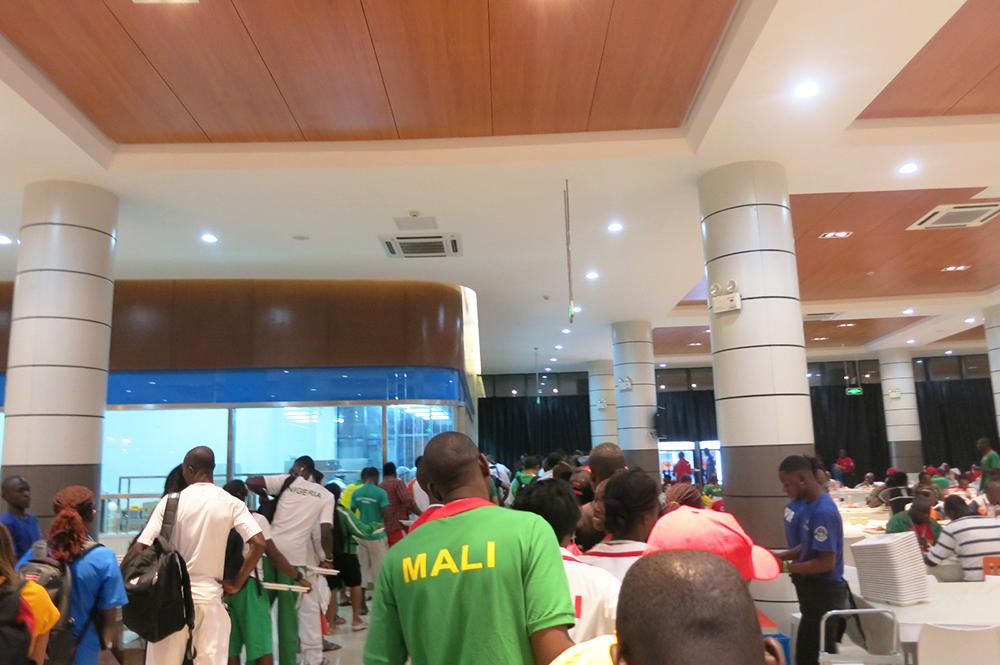 Brazzaville 2015 dinner line 2 - actively gemma