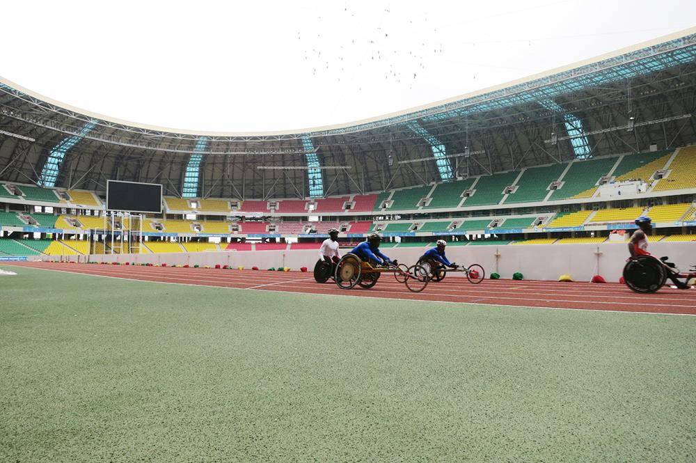 Ghana para-athletics at practice