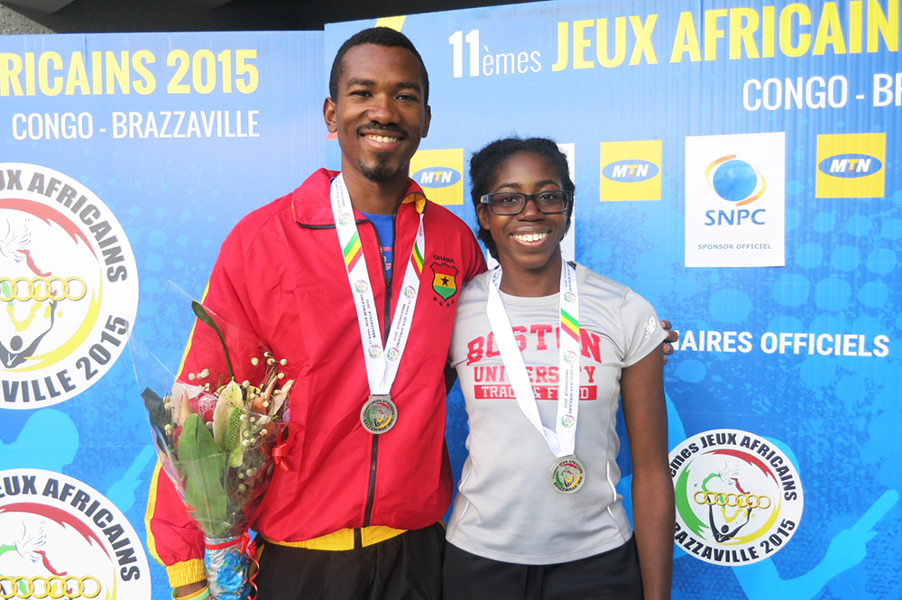 Jordan Yamoah and Gemma Acheampong with medals