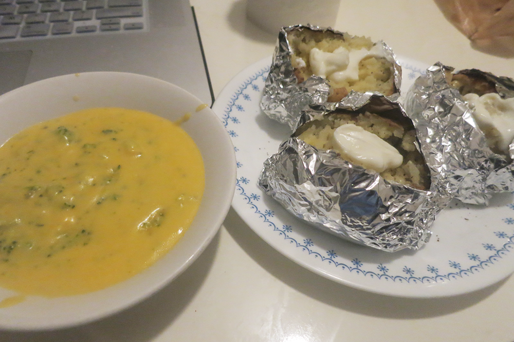 cheese-and-broccoli-soup-and-baked-potatoes