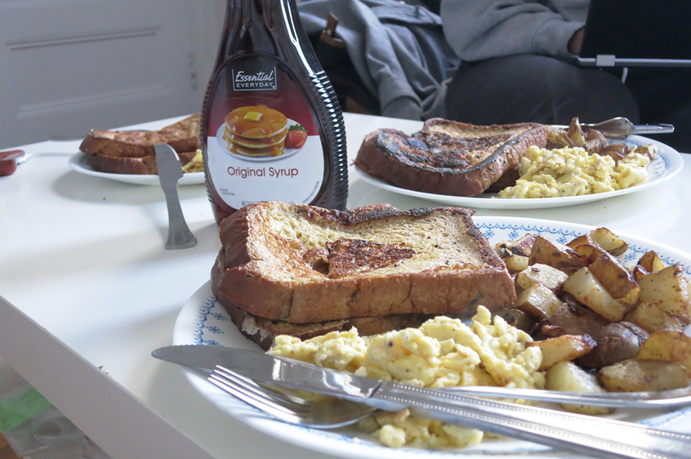 Sunday Brunch - French Toast, Scrambled Eggs, and Home Fries [actively gemma]