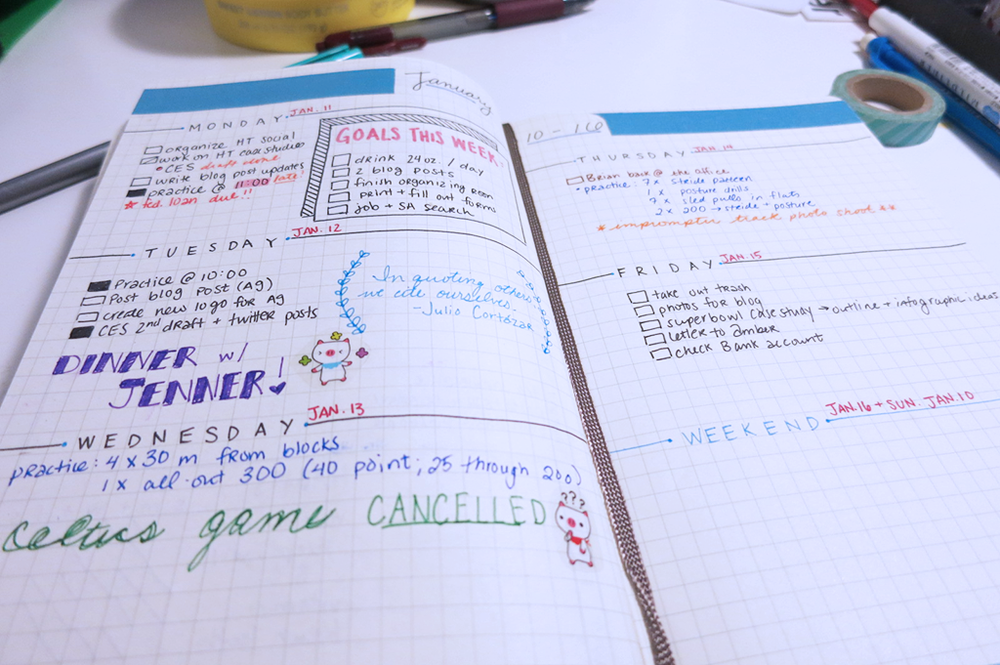 Weekly Bullet Journal Spread
