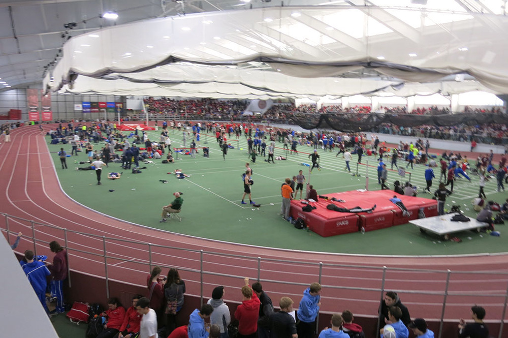 Boston University David Hemery Valentine Invitational Overhead Shot