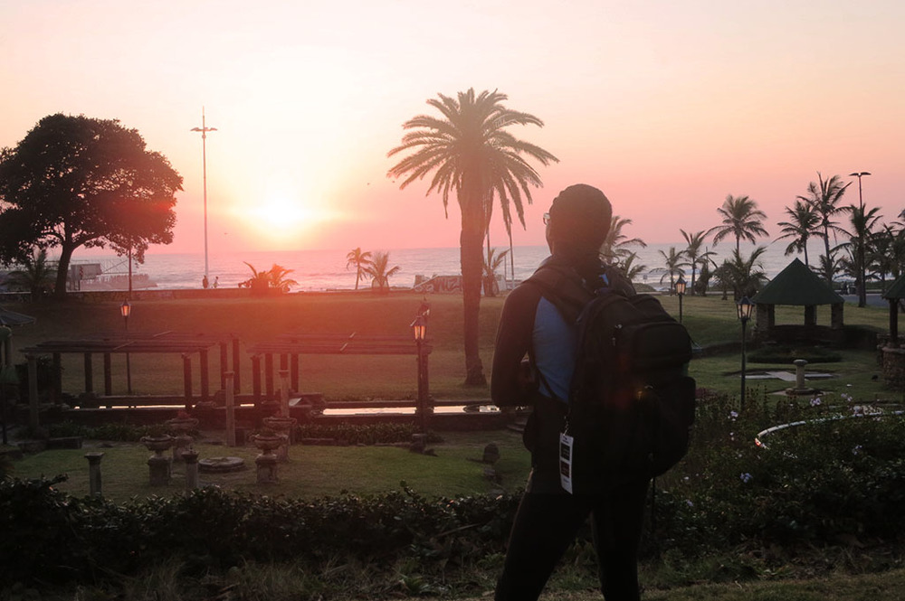 Admiring the South African Sunrise in Durban