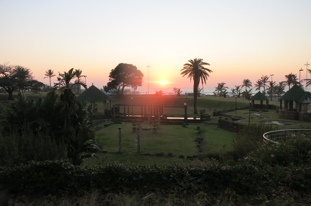 Sunrise in Durban, South Africa