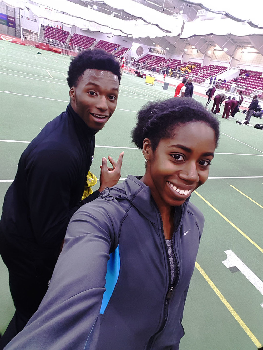 Chiebuka and I getting that post-meet selfie in