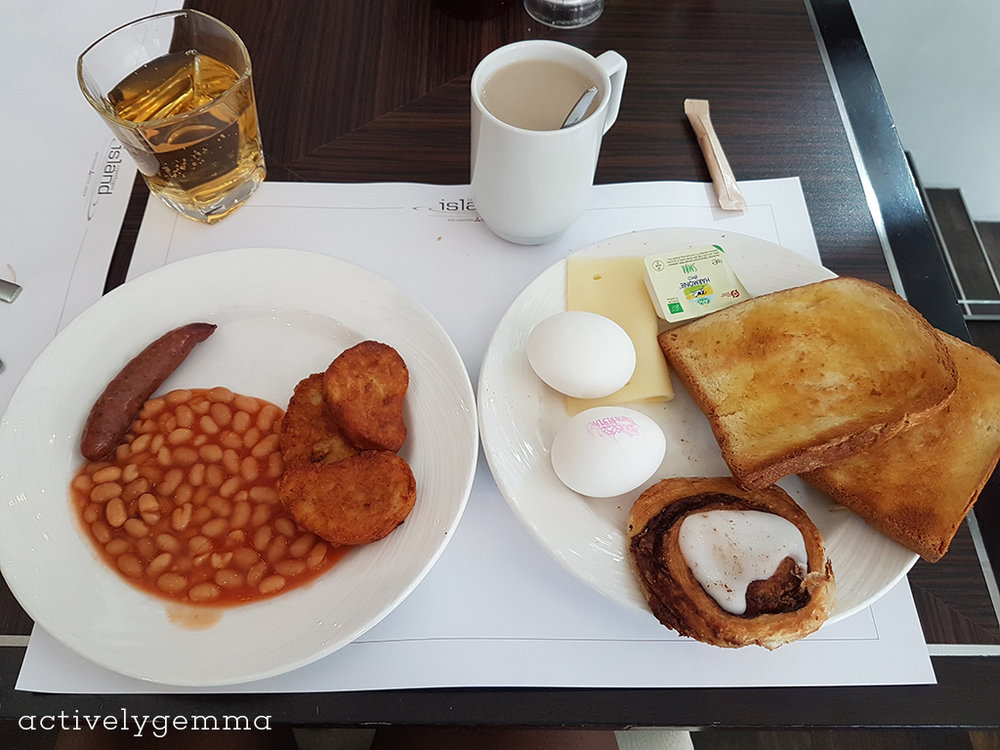 English breakfast in Copenhagen