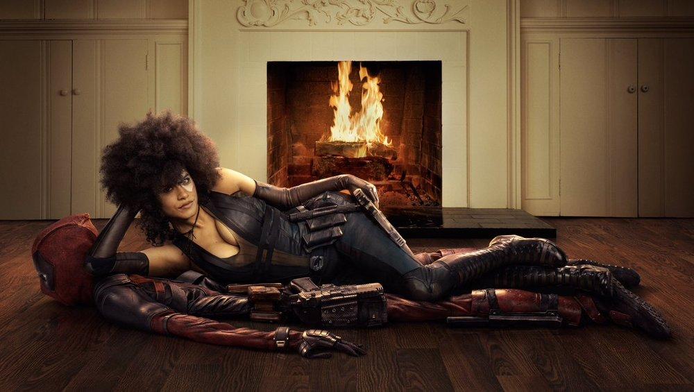 Zazie Beetz as Domino in Deadpool 2 Promotion
