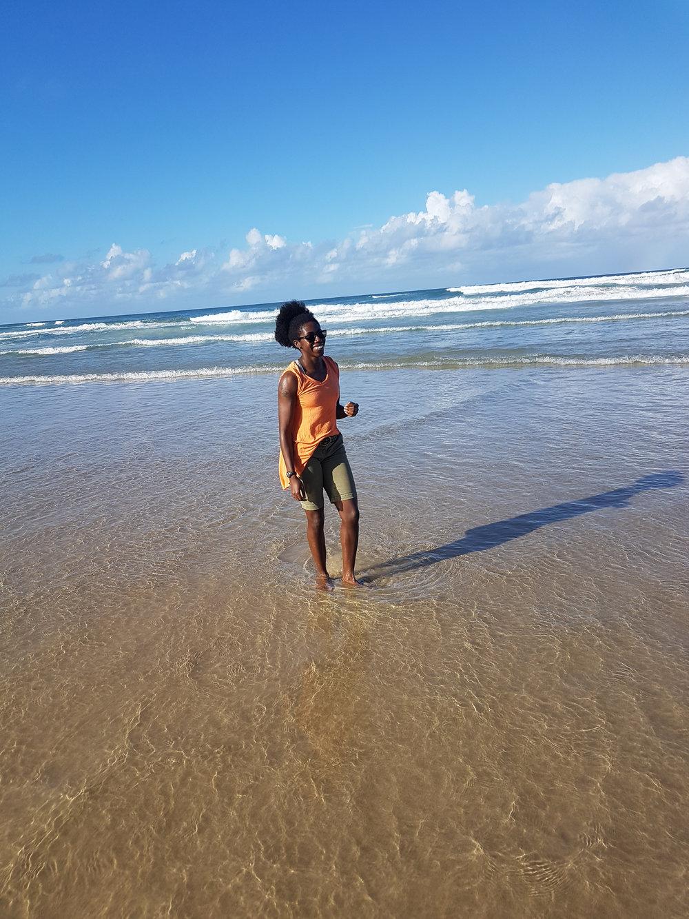 Basking in ocean goodness in Gold Coast, Australia