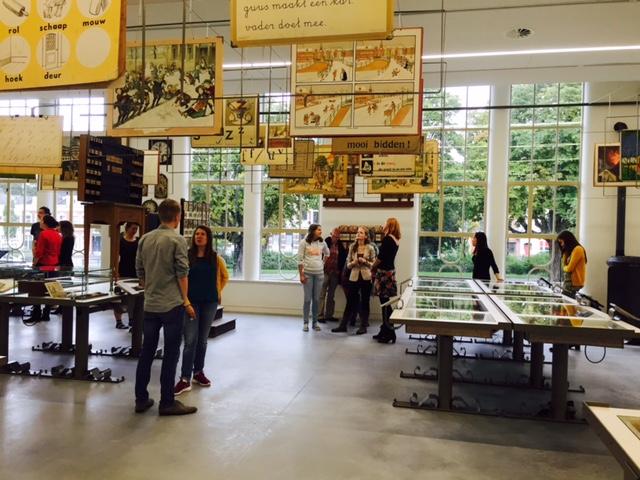 Visiting the Onderwijsmuseum in Dordrecht.